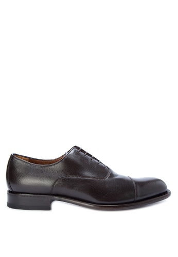 A. Testoni black Men's Dress Shoes Oxford AT299SH0K4C4PH_1