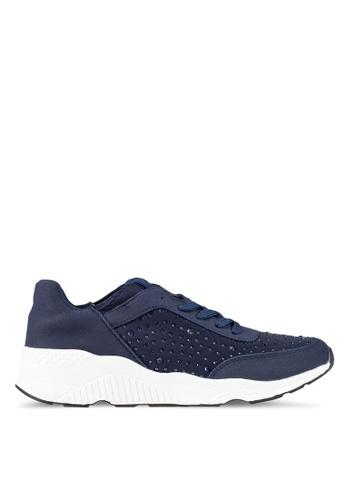 Bata navy Bejewelled Sneakers BA156SH0RY6RMY_1