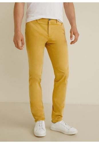 Mango Man 黃色 Slim-Fit Chinos Trousers 775F2AAC65CB9DGS_1