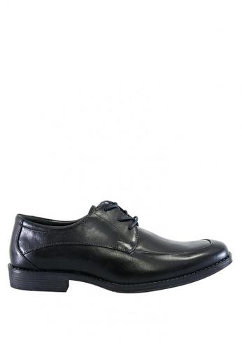 Hush Puppies black Stapler Lace Up Dress Casual Shoes HU326SH0J3X9PH_1