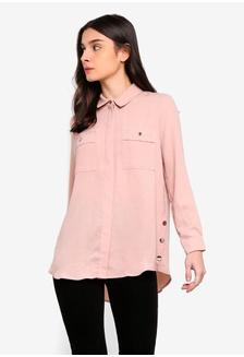 bc1056af4dbde Petite Blush Longline Shirt 53E4BAA1890410GS 1 Wallis Petite Blush Longline  Shirt Php 3649.00. Woven Long Sleeve Blouse C0447AADA9EBDCGS 1