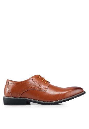 Twenty Eight Shoes 黃色 雕紋牛津鞋 59BC3SH20A09C9GS_1