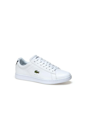 Lacoste white Lacoste Men's Carnaby Evo Premium Leather Trainers - Carnaby Evo BL 1 370C4SH131956FGS_1