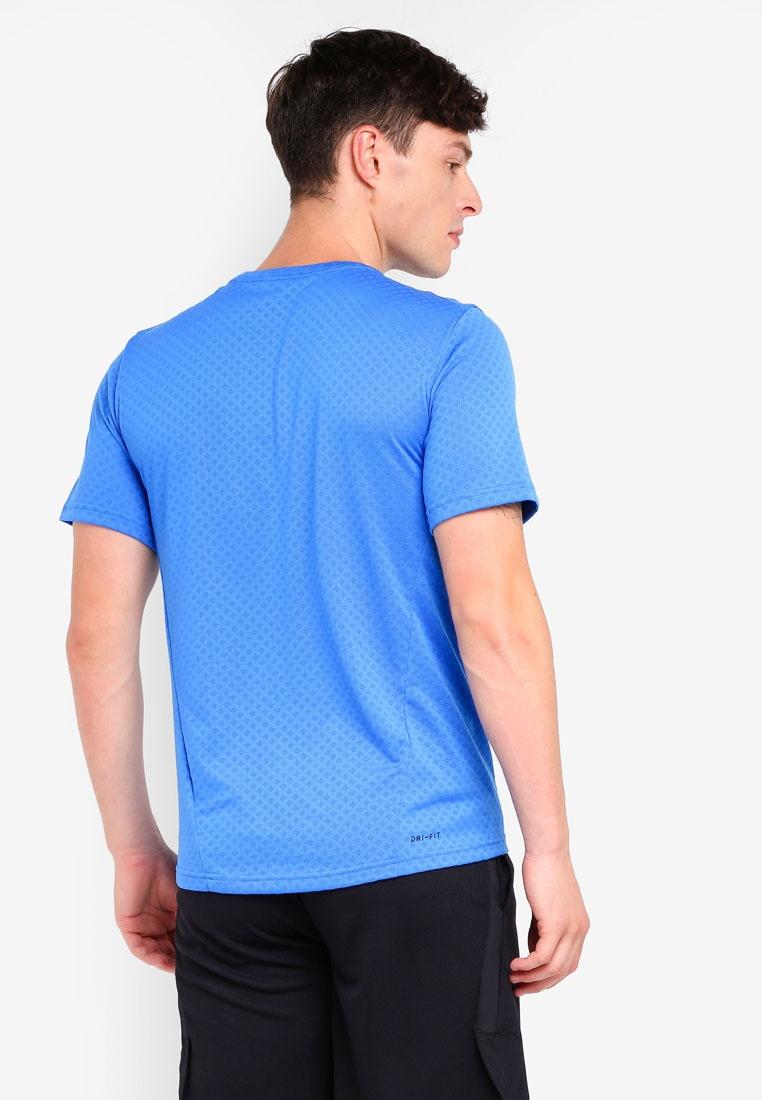 M Signal Sleeve Nike Nk Short Black Top As Vent Blue Brt 7THwaWqa