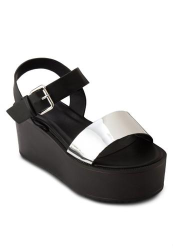 金屬帶esprit investor relations繞踝厚底涼鞋, 女鞋, 楔形涼鞋