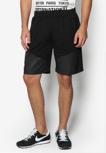 斜紋拼接百慕達休閒短褲, esprit手錶專櫃服飾, 服裝