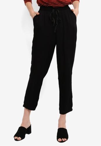 LC Waikiki black Flexible-Waist Carrot Pants C7B46AA3DB587BGS_1