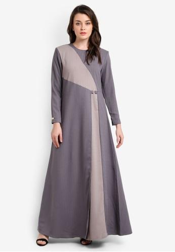 JubahSouq grey Laveenia Dress JU399AA0RH7FMY_1