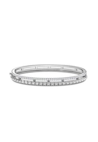 Aquae Jewels white Bangle Rich & Bold Peaks 18K Gold - White Gold 7A0CAAC22DE1DCGS_1