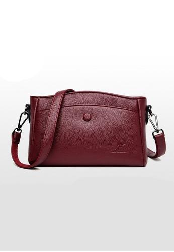 Lara purple Women's Minimalist PU Leather Zipper Cross-body Bag - Purple DA6A1ACD44C2E8GS_1