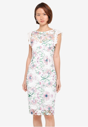 Paper Dolls multi Pretty Printed Chiffon Detail Crochet Lace Dress 6472EAA1C1CEF9GS_1
