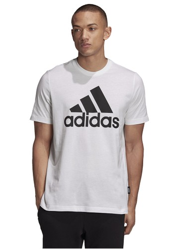 ADIDAS white mens badge of sport t-shirt 854C7AA3FE41AAGS_1