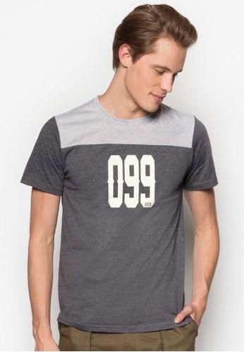 撞色拼接數字TEE、 服飾、 T恤JAXON撞色拼接數字TEE最新折價