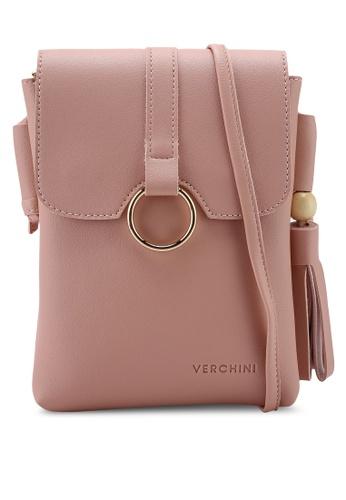 Verchini pink Verchini Casual Sling Bag 9E2B9ACF37130BGS_1