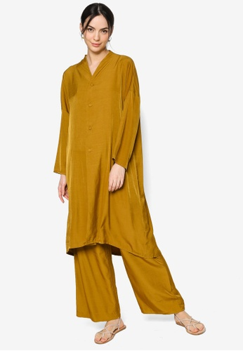 ZALIA BASICS brown Lounge Top with Pants Set F5554AA6BD5223GS_1