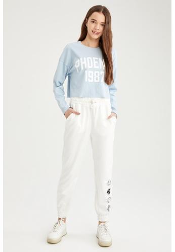 DeFacto blue Woman Knitted Long Sleeve T-Shirt C1262AA500B42CGS_1