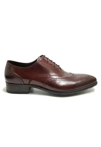 Kings Collection red Hollis Wingtip Shoes 67069SH031B393GS_1
