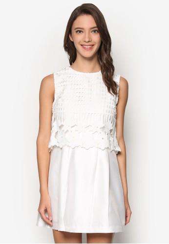 鉤針蕾絲esprit taiwan無袖洋裝, 服飾, 洋裝