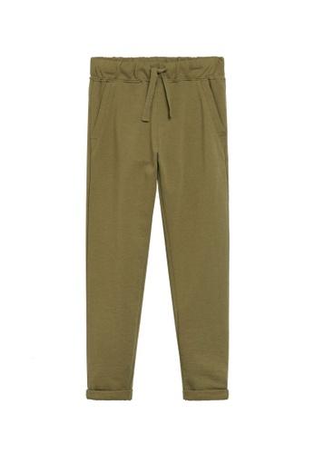 MANGO KIDS green Cotton Drawstring Trousers F5EF9KA1CEE046GS_1