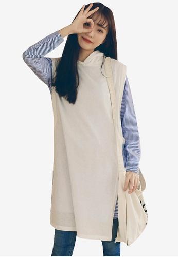 Tokichoi white Layered Look Knit Dress DBA3AAA7791458GS_1