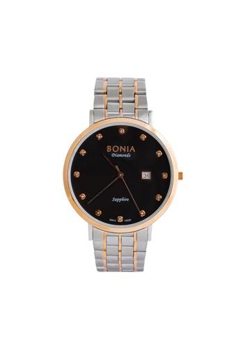 BONIA silver Bonia B10320-1637 - Jam Tangan Wanita - Silver Rosegold Black Dial BF368AC16C403BGS_1