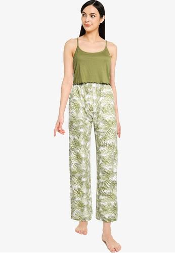 ONLY green Karla Strap Nightwear Set 6C45AAA18DA324GS_1