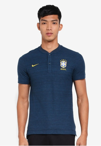 Nike gold and navy Men's Brasil CBF Grand Slam Polo Shirt 2C456AA0C28AADGS_1