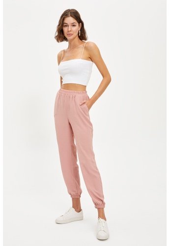 DeFacto pink Woman Woven Trouser 6B4F7AA4FB4F54GS_1