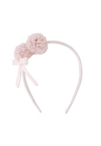 Spinkie pink Petit Pom Headband AE941KCF49F9A0GS_1
