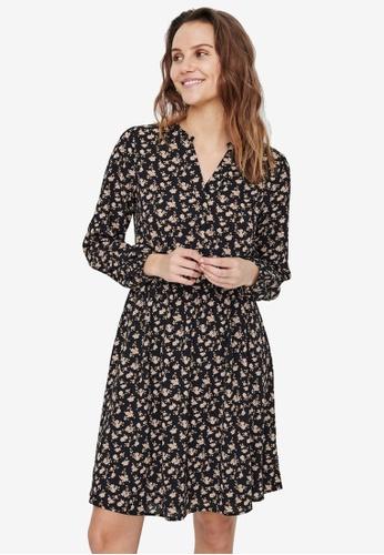 Vero Moda black Aya Printed Mini Dress 8E851AA594417AGS_1