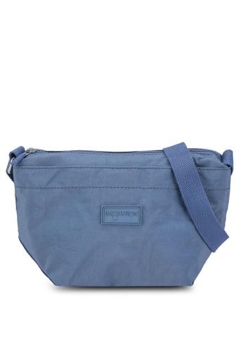 Bagstationz blue Crinkled Nylon Mini Sling Bag A18FDAC06531FFGS_1
