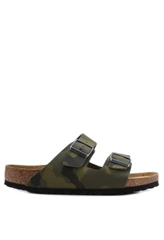 bf32e1f33376 Birkenstock green Arizona Desert Soil Camou Soft Footbed Sandals  6D50ASHA30BA9FGS 1
