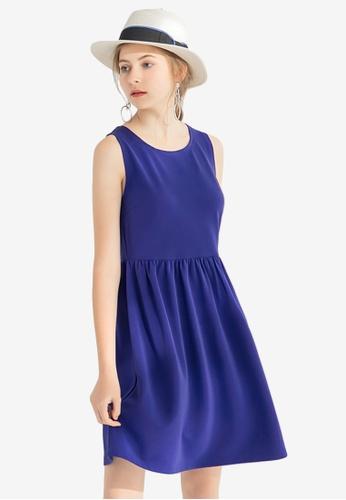 Sesura blue Sweet Dreaming Gathered Dress 71C9EAA842178EGS_1