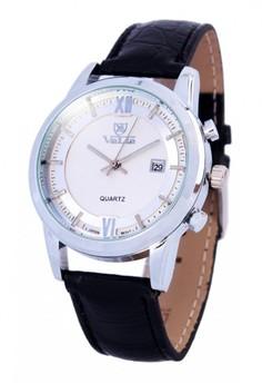 Valia Jeremy Leather Strap Watch 8221