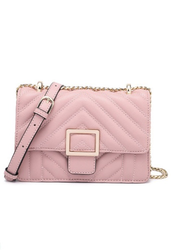 Halo pink Two Way Mini Party Bag A4FCDAC9BEA280GS_1
