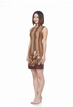 12a7edec5 Mandarin Peony Cheongsam brown Mandarin Peony JELITA Cheongsam Batik Dress  40399AAAFFA392GS_1