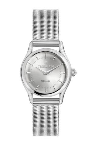 Trussardi silver T-Light Quartz Watch R2453127505 Silver Metal Strap 97F22AC48C0462GS_1