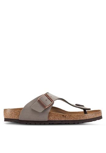 Birkenstock grey Ramses Birko-Flor Nubuck Sandals 5F5B6SHD392F07GS_1