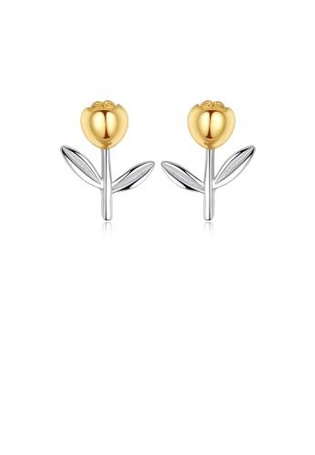 Glamorousky silver 925 Sterling Silver Simple Fashion Flower Stud Earrings 50EB9ACF951068GS_1