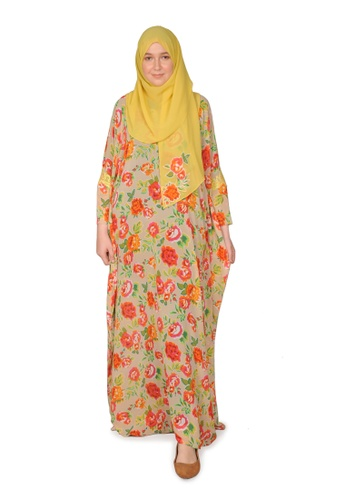 Bait Al Hijaab multi ONE-OF-A-KIND PRINTED KAFTAN KS C6890AA800174BGS_1