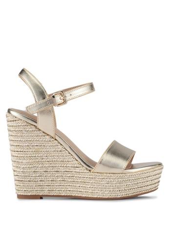 ALDO gold Lovalewet Wedge Sandals 414AESH8DFBEE2GS_1