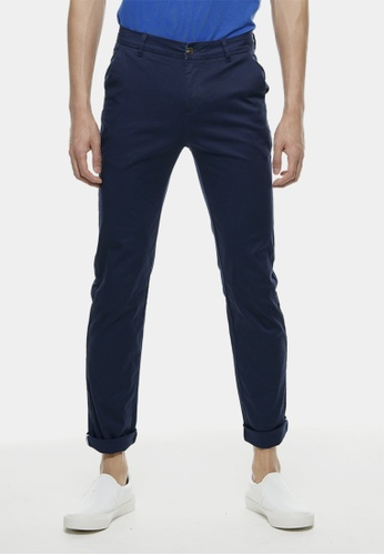 Private Stitch navy Slim Fit Chinos Trouser In Navy PR777AA74QOZMY_1