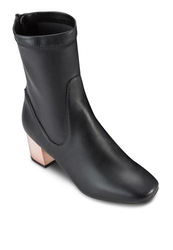 尖頭粗跟中跟短靴, 女鞋esprit地址, 鞋