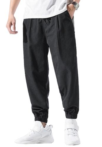 Twenty Eight Shoes black VANSA  Colorblock Casual SweatPants  VCM-P125 F37A3AAC5218E9GS_1