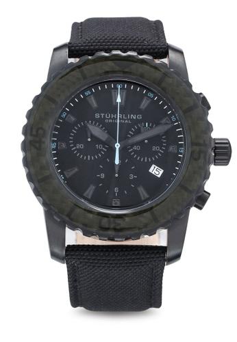 Stuhrling Original black Aquadiver 3268 Watch 6D150AC5486FE0GS_1