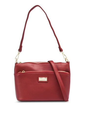 Mel&Co red Faux Leather Sling Bag B8569AC9E8AB26GS_1