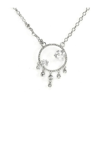 Glamorousky silver Elegant Necklace with Silver Austrian Element Crystals and CZ BAEACACF3935B5GS_1