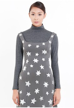 [PRE-ORDER] Stars Embroidered A-Line Dress