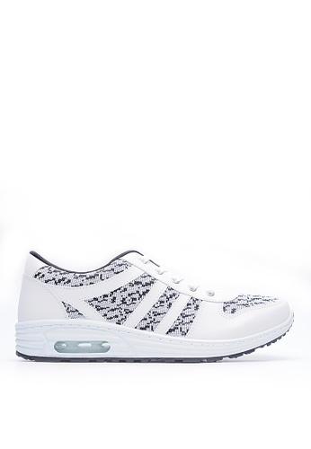 Life8 white Bicolor Knit Sport Shoes-09320-White LI286SH44FAHMY_1