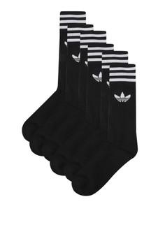 official photos 976f3 36a15 adidas black adidas originals crew socks 3 pairs AD349AC76HRBID1